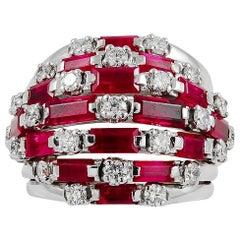 Van Cleef & Arpels Round Diamond and Ruby Ring