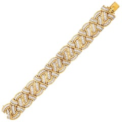 Yellow and White Gold and Diamond Bracelet