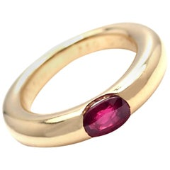 Cartier Ellipse Ruby Yellow Gold Band Ring