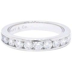 Tiffany & Co. Round Brilliant 0.81 Carat Diamond Wedding Band in Platinum