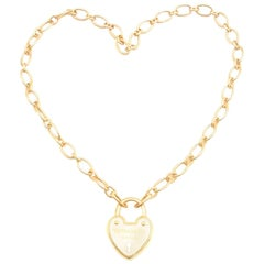 Tiffany & Co. 18 Karat Heart Lock Necklace