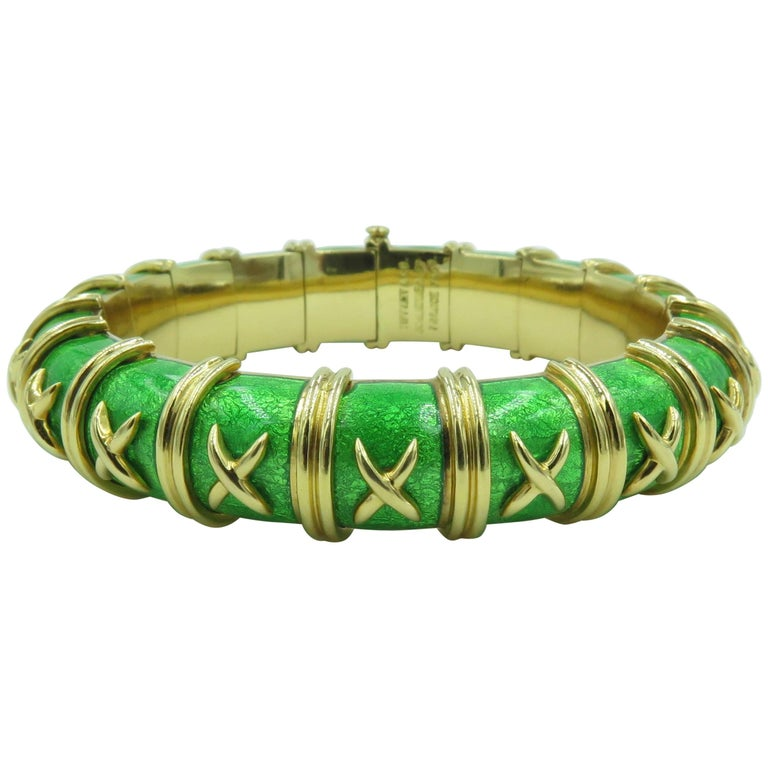 Tiffany & Co. Schlumberger Enamel and Gold Bracelet