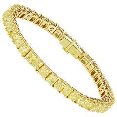 Scarselli Yellow Diamond Line Bracelet 26.75 Carat