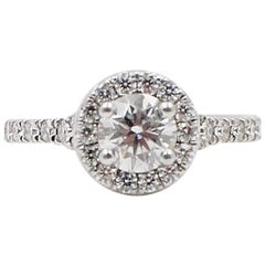 Hearts on Fire Transcend Single Halo Diamond Engagement Ring 1.02TCW in Platinum