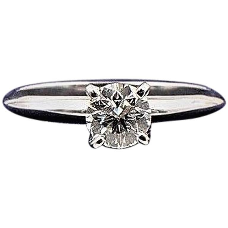 Engagement Rings On Sale Newcastle: Heart On Fire Round Brilliant Diamond 0.593 TCW G VS2