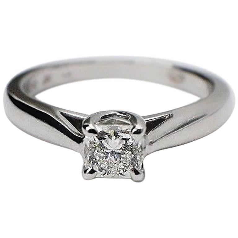 Hearts on Fire Dream Cut 0.44 Carat Diamond Ring in 14 Karat White Gold