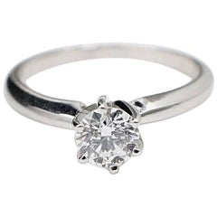 Hearts on Fire Round 0.37 ct G SI1 Diamond Engagement Ring in 14k white Gold