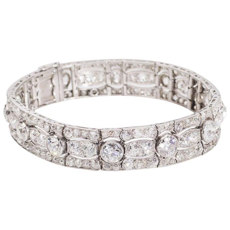 Art Deco Diamond Platinum White Gold Bracelet