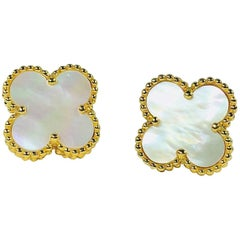 Van Cleef & Arpels Alhambra 18 Karat and Mother-of-Pearl Earrings