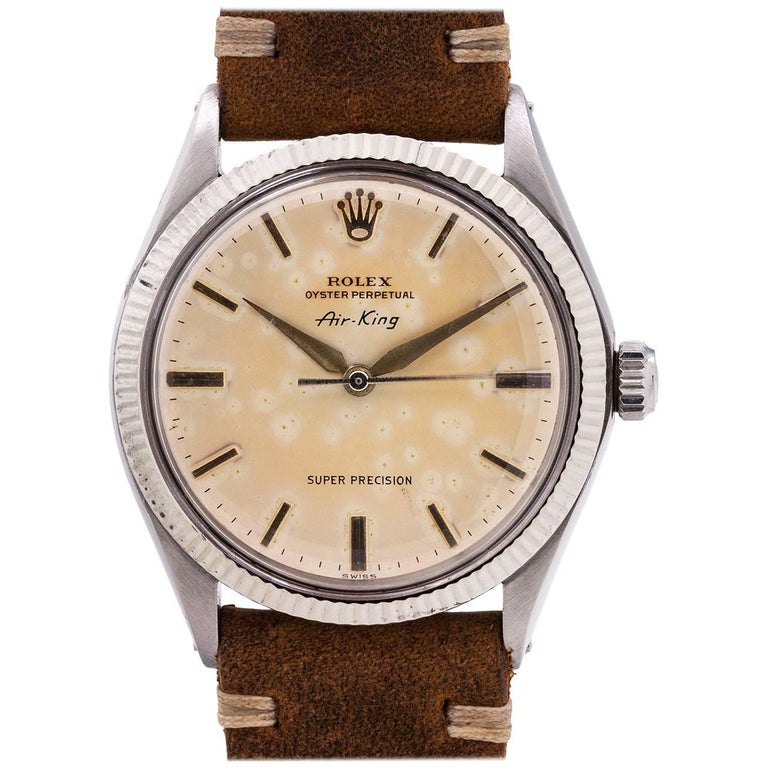 Rolex Stainless Steel Airking Super Precision self winding Watch Ref 1005, c1971