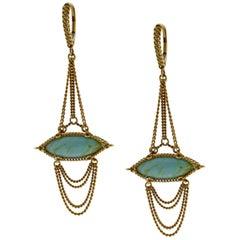 Anthony Nak Turquoise Drop Earrings