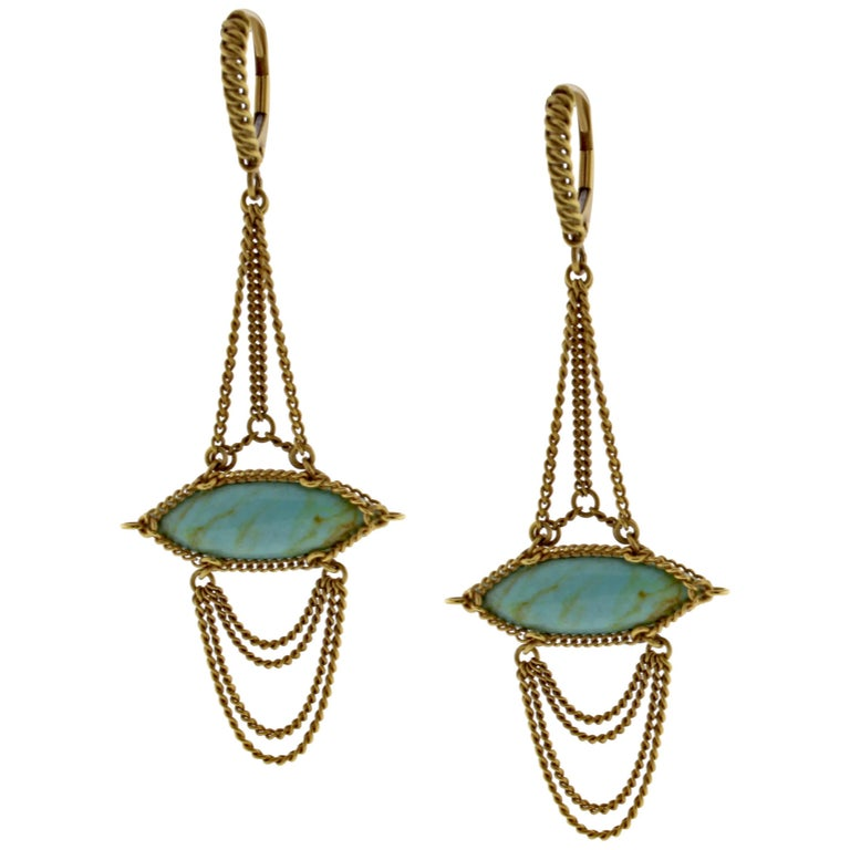 Anthony Nak Turquoise Drop Earrings