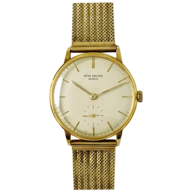 Patek Philippe Genéve Gold, 18 Jewels Watch