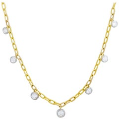 1.86 Total Carat Weight Rose Nouveau Diamond Choker Necklace