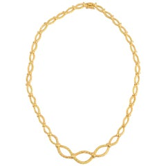 Tiffany & Co. Oval Links Gold Necklace