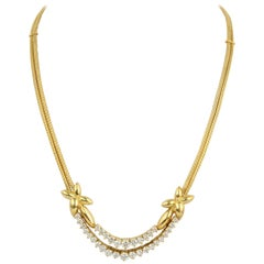 Jose Hess Gold and Diamond Necklace