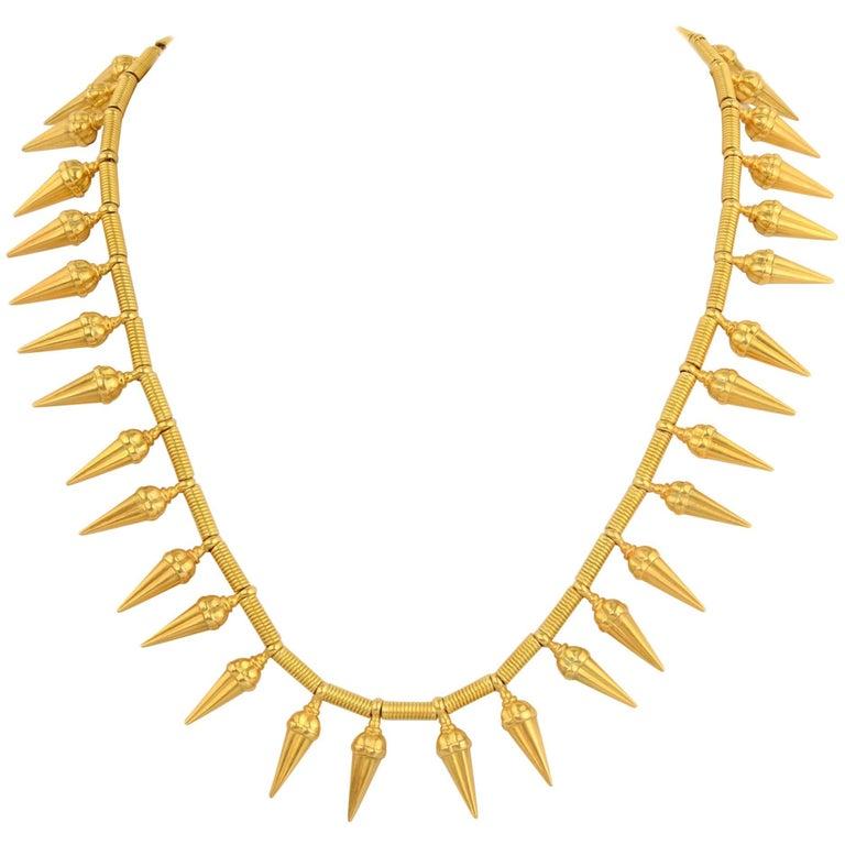 Castellani Gold Pendants Choker Necklace