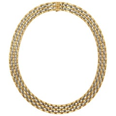 Cartier Gold and Steel Choker Necklace