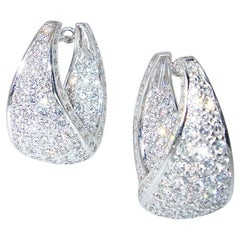 Diamond Studded Hoop Style Earrings