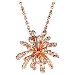 Fei Liu 18 Karat Diamond Rose Gold Pendant Necklace