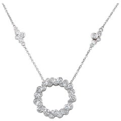 Lester Lampert Original Cumullus Circle and Pirouette Diamond Necklace