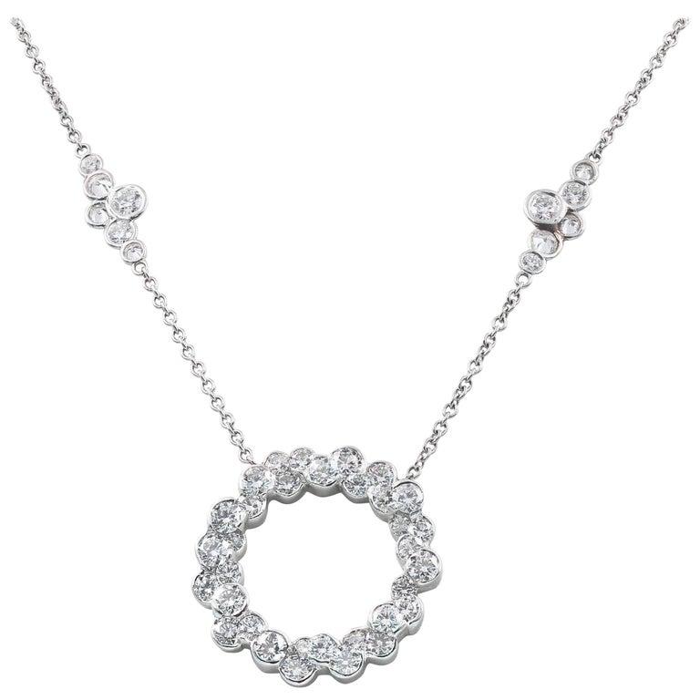 Lester Lampert Original Cumullus Circle and Pirouette Diamond Necklace