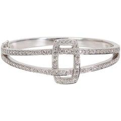 Kwiat Diamond Bangle Solaris Collection 18 Karat White Gold 2.00 Carat
