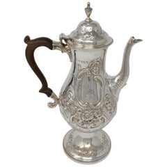 Peter & Ann Bateman Coffee Pot, Sterling Silver, London, 1792-1793