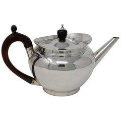 English Sterling Silver Georgian Tea Pot, Robert Garrard I, 1805