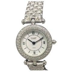 Van Cleef & Arpels Classique White Gold and Diamond Bracelet Watch 322632 B2
