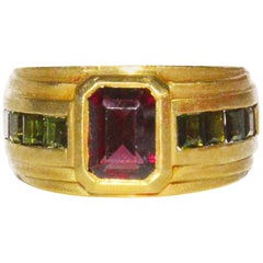 Barry Kieselstein Cord Tourmaline Gold Ring