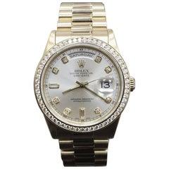 Rolex President Day Date 118238 Diamond Dial Diamond Bezel 18 Karat Yellow Gold