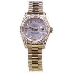 Rolex Ladies President 179158 Factory MOP Diamond Diamond Bezel Box & Papers