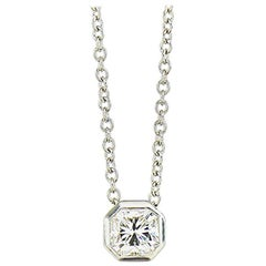 Tiffany & Co 0.63 ct. G, VS1 Lucida Diamond Platinum Necklace