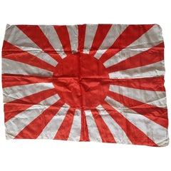 Japanese World War 2 Rising Sun Silk Flag
