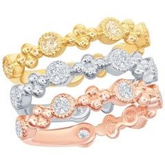 Bezel Stackable Rings