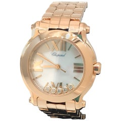 Chopard Happy Sport Rose Gold Mother-of-Pearl Diamond Ladies Watch 27/4189-5003
