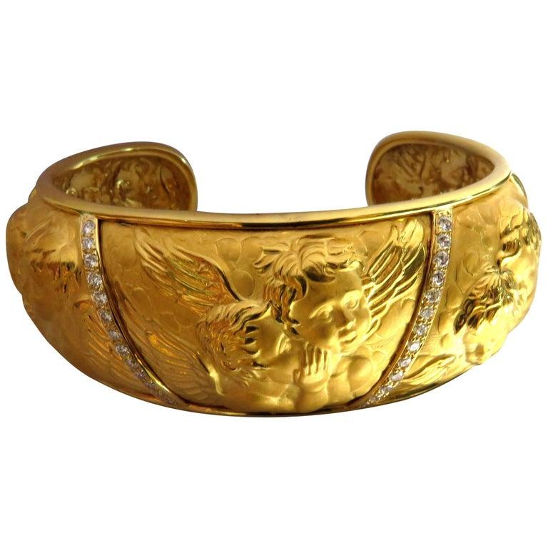 Carrera y Carrera Rare Diamond Angels Motif Rhonda Collection Large Bracelet