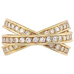 Cartier, France, 1.80 Carat Diamond and Gold 'Trinity' Band Ring