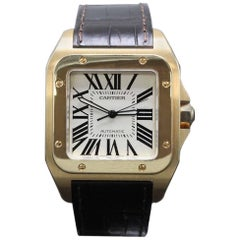 Cartier Santos 100 Large 18 Karat Rose Gold 2792 Original Polish, W20095Y