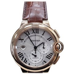 Cartier Ballon Bleu 3107 W6920074 18 Karat Rose Gold Chronograph Box and Papers