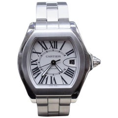 Cartier Roadster Large 3312 W6206017 Stainless Steel Silver Dial