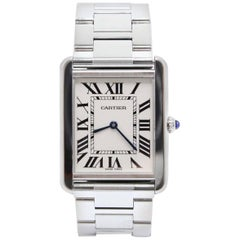 Cartier 3169 Tank Solo Large Stainless Steel Watch