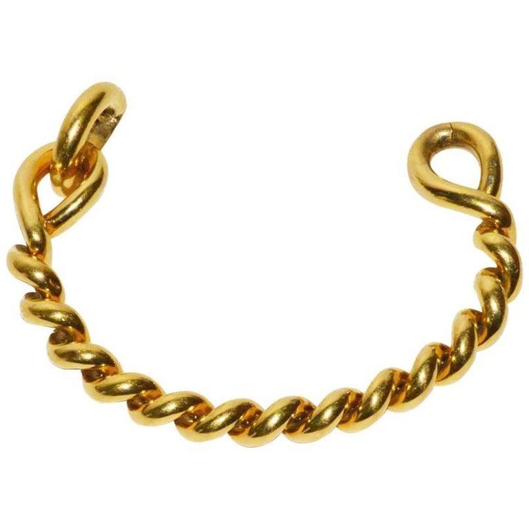 Hermes Gold Rope Bracelet