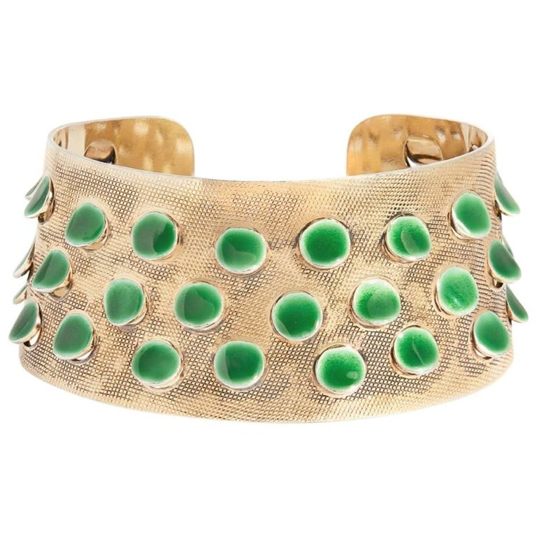 Guilloche Enamel and Silver Bracelet by Grete Prytz Kittelsen, Norway, 1953