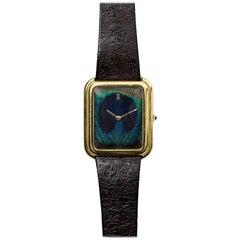 Corum Yellow Gold Peacock Feather Manual Wind Wristwatch