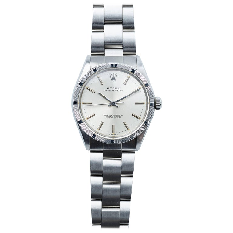 Rolex Stainless Steel Oyster Perpetual Automatic Wristwatch, 1980s