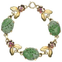 Tiffany & Co. Jade Ruby and Gold Bracelet