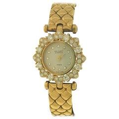 Van Cleef & Arpels Classique Yellow Gold & Diamond Bracelet Ladies Watch 130955