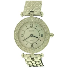 Van Cleef & Arpels Classique White Gold Diamond Bezel Bracelet Ladies Watch